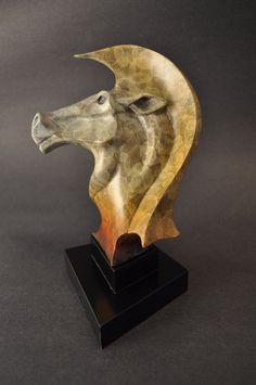 More equine art & inspirations: www.StajniaSztuki.pl  Twisted Knight: Bronze horse chess sculpture by Paulsen Bronze