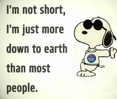 TOO TRUE WHEN YOU ARE UNDER 5'!    A GOOD COMEBACK WHEN PEOPLE CALL YOU LITTLE!