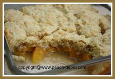 RECIPE for Peach Cobbler Dessert Using CANNED Peaches!  Yummy!!