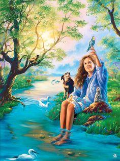 Felicidad en plena conexión con la naturaleza