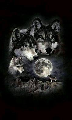 -Super tattoo back moon wolves Ideas Ideas de tatuajes super lunares lobos See it Wolf Pack Tattoo, Wolf Tattoo Sleeve, Tattoo Wolf, Two Wolves Tattoo, Wolf Tattoo Design, Wolf Tattoos Men, Dog Tattoos, Wolf Photos, Wolf Pictures