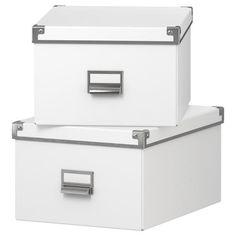 IKEA - KASSETT, Box with lid, white, 10 Ikea Inspiration, Kids Clothes Organization, Desk Organization, Organizing, Ikea Storage, Craft Storage, Paper Storage, Storage Baskets, Ikea Kassett
