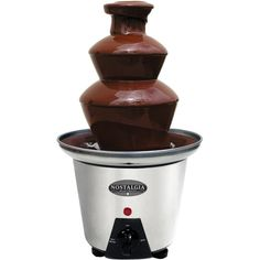 Nostalgia Electrics Mini 2-Tier Stainless-Steel Chocolate Fondue Fountain