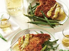 This recipe for breaded pork chops gives the meat a nice crunch. Serve with homemade mustard sauce and green beans.
