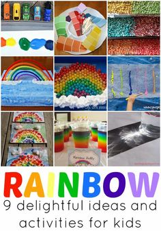 Learn with Play at Home: 9 Rainbow themed activities and ideas for kids