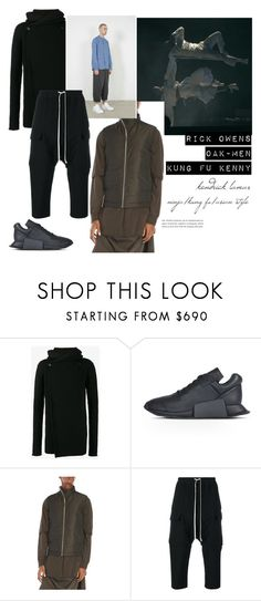 """""""Ninja, Kung fu, Asian Style-Men"""" by beautymanifesting ❤ liked on Polyvore featuring Rick Owens, men's fashion and menswear"""