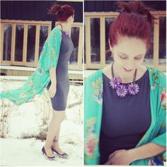 So many ways to wear this #kimono from @Forever 21. See how I style it!: http://www.thepurplescarf.ca/2014/02/Fashion-Style.My-Style-Kimono.Style-Far-East-Versatility.html #fashion #style
