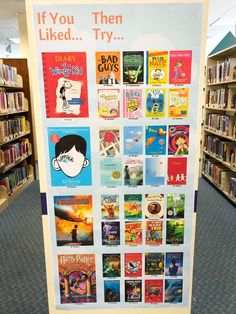 Looking for your next great read? Check the childrens room! Be sure to look out for our new read alike display featuring familiar favorites! Head to our website for a printable PDF! The post Childrens Read Alike Display appeared first on Children's Room. School Library Decor, School Library Displays, Middle School Libraries, Elementary School Library, Class Library, Library Books, Elementary Library Decorations, Library Ideas, School Library Lessons