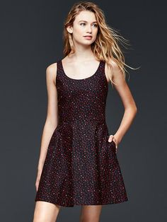 Starry ballet fit & flare dress