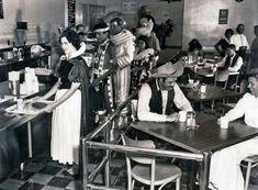 Disneyland employee cafeteria in 1961.
