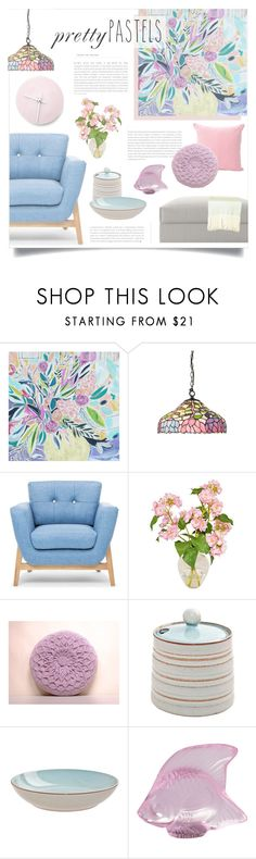"""Pretty Pastels"" by retrocat1 ❤ liked on Polyvore featuring interior, interiors, interior design, home, home decor, interior decorating, Denby, Lalique, colorchallenge and prettypastels"