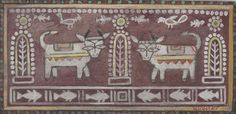 Jamini Roy - Untitled (Two Cows)