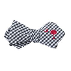 OLLY OXEN Black and white plaid with Garnet South Carolina BowTie #TieTry  Designer Ties for $12 a month