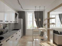 Дизайн проект трехкомнатной квартиры в г. Мытищи в стиле контемпорари с элементами эко стиля - Дизайн студия Евгении Ермолаевой