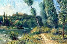 Ile Marane and the Small Arm of the Seine Gustave Caillebotte - 1888