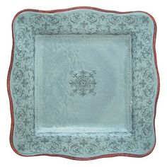 Le Cadeaux Melamine Bella Teal Dinner Plate 11 in., available at thefrenchybee.com