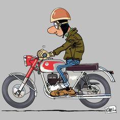 Source by luigicanales Morbider Humor, Harley Davidson, Baby Bike, Mechanical Art, Motorcycle Style, Valentino Rossi, Comic Styles, Mini Bike, Ghost Rider