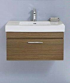 """Metropolitan 30"""" Wall Vanity & Sink Set- Teak 176-WV30"""