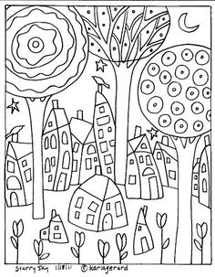 Rug Hooking Paper Pattern Starry Sky by Karla G | eBay