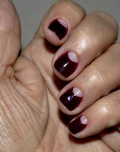 Manicure Cubano......La lunita.. I would do my abuelita nails like this all the time y con el filo on top too... miss her ='/