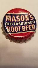 Mason's Vintage Red/Blue Root Beer Soda Pop Cork Back Norfolk NE Bottle Cap