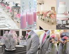 Pink & grey wedding