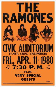 "The Ramones 14"" X 22"" Vintage Style Concert Poster"