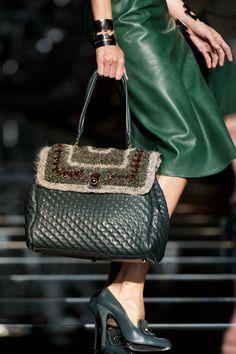 Ermanno Scervino's english green crocheted purse top
