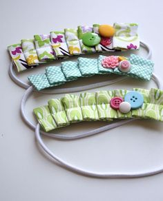 Pleated Headband Tutorial- SO cute and easy to make.