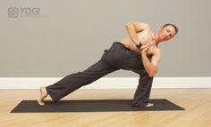 mens prayer twist yoga pose