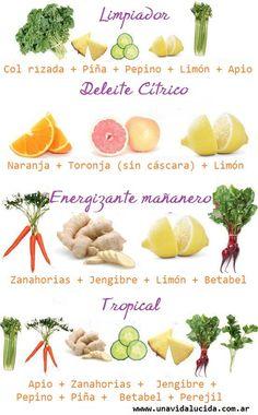 Ideas para tu preparado de jugo natural.