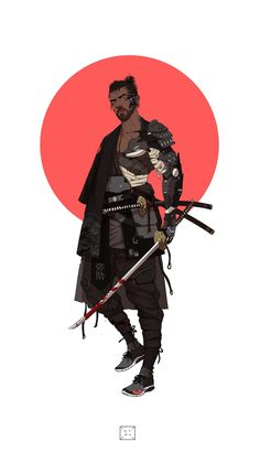 ArtStation - Neo Samurai series 2 - Yasuke, by Manilyn Toledana Arte Ninja, Ninja Art, Character Concept, Character Art, Concept Art, Urban Samurai, Ronin Samurai, Upcoming Anime, Cuadros Star Wars