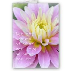 Zen Flowers | Zen Flower- Dahlia Card Rumi Quote review at Kaboodle