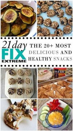These 21 Day Fix snack ideas are filling and nutritious! Finding snacks on the 21 Day Fix isn't always easy, and I find myself turning the the same things every day. This list can help! Clean Eating Snacks, Healthy Snacks, Healthy Eating, Healthy Recipes, Clean Recipes, Simple Snacks, Diet Snacks, Yummy Snacks, 21 Day Fix Diet