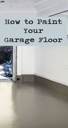 How to Paint Your Garage Floor : How to paint garage floor. For my home someday! Painting your garage floor is an easy way to spruce up your garage or create more living space in your home. Learn how to do it right the first time! Br House, Garage House, Car Garage, Garage Doors, Garage Kits, Dream Garage, Garage Loft, Garage Door Makeover, Garage Entry