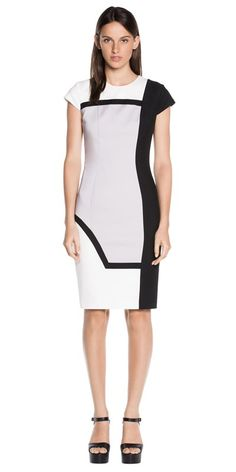d8a1fe8e8b4 CUE - Spliced Cap Sleeve Dress Cue Clothing, Buy Dresses Online, Colour  Block,