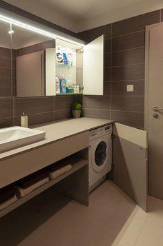 15 ideas para disimular la lavadora