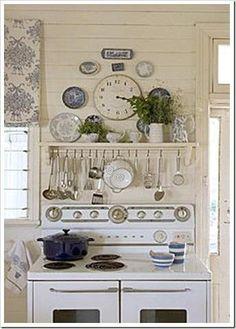 Nice display with the vintage stove