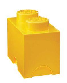 Lego Storage Brick 2 Yellow 000017 - Toysheik
