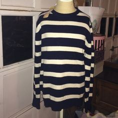 GANT Striped Sweater Cotton. Soft. Navy & white Gant Sweaters Crew & Scoop Necks