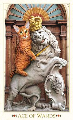 Cat Art...=^.^=...♥ The Ace of Wands...