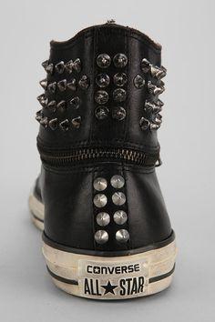 57874b8e3e04d0 Converse Chuck Taylor All Star John Varvatos Zip-Off Studded High-Top  Sneaker