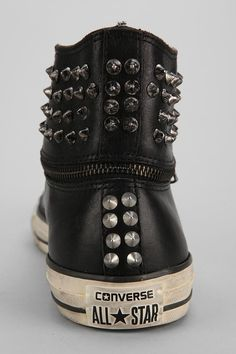 Converse Chuck Taylor All Star John Varvatos Zip-Off Studded High-Top Sneaker