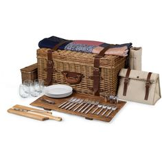 Shop now for Picnic Time Charleston Picnic Basket. Top of the line basket with service for four. Great gift for a family who loves to picnic.