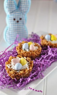 nutella easter nests - gluten free