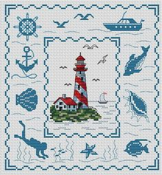 Lightjouse in Brittany. This pattern is from a site that has really easy to download embroidery patterns for free.                                                  It's http://cross-stitchers-club.com/?code_avantage=uucqid.  Plus, if you click on this link, you'll automatically receive a gift when you subscribe. I use this site all the time; there are hundreds of all different types of patterns, and there are new patterns added everyday. It's really worth a look.