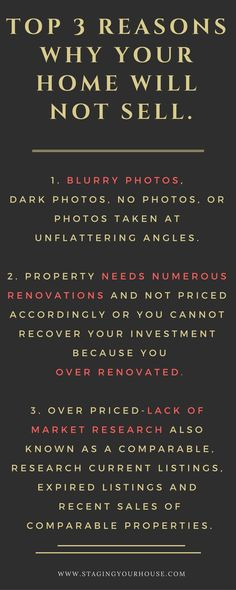 I see these mistakes over and over again on the MLS; expired listings and homes that have been on the market for months or years. I guarantee they have one or several of these issues. Real Estate Buyers, Real Estate Leads, Real Estate Tips, Selling Real Estate, Real Estate Investing, Home Buying Tips, Home Selling Tips, Selling Your House, First Home Checklist