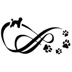 Infinity #poodle Vinyl Decal Car Sticker