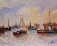 "Saatchi Art Artist Andres Vivo; Painting, ""3964  Protected-  Halter Marine"" #art"
