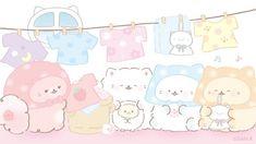 Cute Animal Drawings, Cute Drawings, Champurrado, Cute Kawaii Animals, Cartoon Background, Kawaii Stickers, Cute Anime Wallpaper, Kawaii Art, Cute Bears